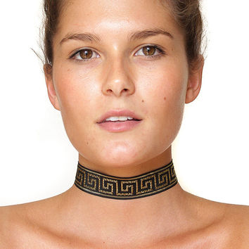 Aztec Choker Necklace