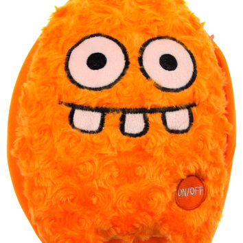 "Orange Rocket Head Pillow Color LED Light Up Flash Plush 10"" Microbeads Decor"