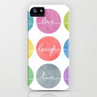 Love Laugh Live 2 (Colorful) iPhone & iPod Case by Mareike Böhmer Graphics