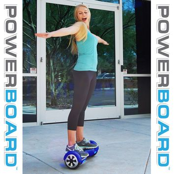 Blue POWERBOARD by Hoverboard SAFE [UL] Hover Board Self Balancing Scooter USA
