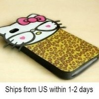 Le Big Head Hello Kitty Back Cover Case for Iphone4/iphone4s