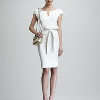 Milly - Haley Sheath Dress, Ivory - Bergdorf Goodman