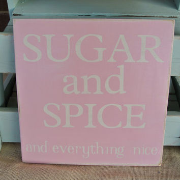 sugar and spice and everything nice painted by scrapartbynina