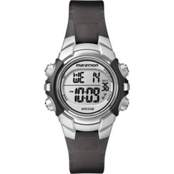 Timex Marathon Digital Mid-Size Watch - Black-Silver
