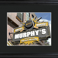NHL Pub Print in Wood Frame - Ducks