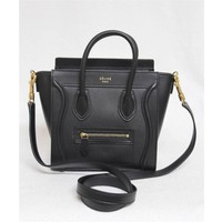 Celine Black Smooth Leather Nano Bag