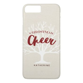 Modern Christmas Cheer Script Holiday iPhone 7 Plus Case