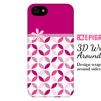 Patterned iPhone 6 case, magenta iPhone 6 plus case, custom iPhone 5c case, iPhone 4s phone cases, Phone 5s case, Galaxy S5 case