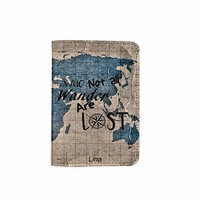 Not All Who Wander Are Lost Customized Cute Leather Passport Holder - Passport Covers - Passport Wallet_SUPERTRAMPshop