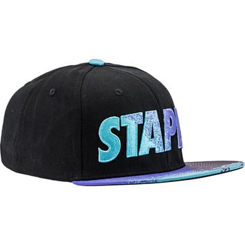 Staple Aqua Snapback Hat (Mens) - Black/Aqua