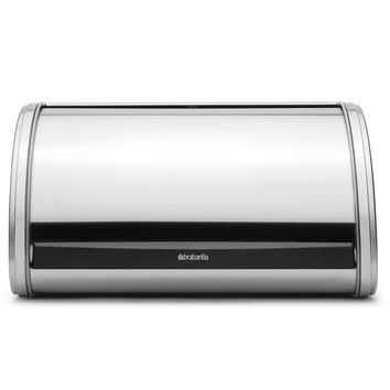 Brabantia Medium Roll Top Bread Bin in Brushed Stainless Steel - Minor Dent
