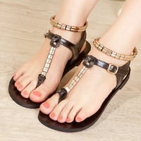 Sequins Thongs Sandals