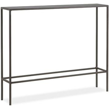 Slim Console Tables in Natural Steel