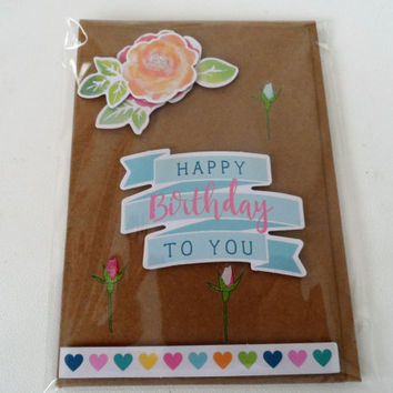 Cards - Birthday Cards - Handmade Cards - Any occasion cards - Made in Australia - unique cards - Love - Happy Birthday - Hearts Card