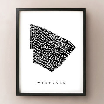 Westlake, Los Angeles Neighborhood Art Print