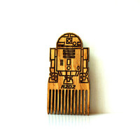 Star Wars Beard Comb R2D2 Robot Shaped Wooden Mustache Comb Gift idea Men For Him Fathers Day Gift Gift for Him Husband Gift Friend Gift