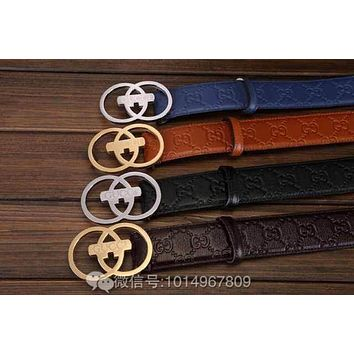 GUCCI belt five-pointed star print belt H fashion Smoothing