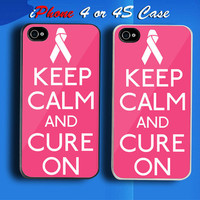 Keep Calm Find The Cure Custom iPhone 4 or 4S Case Cover from namina