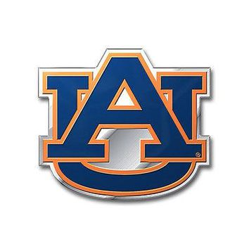 Auburn Tigers War Eagle 3D COLOR Chrome Auto Emblem Home Decal University of