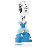 disney parks cinderella dress pandora jewerly charm new with pouch