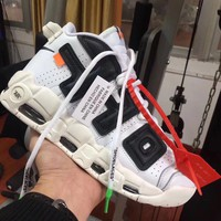 NIKE AIR MORE UP TEMPO WHITE- BLACK SNEAKERS