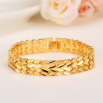 Bracelet For Women Gold Color Bangle men bracelet  lover jewelry New Trendy Hand Chain Jewelry Ethiopian Party Gift Italy Israel