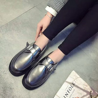 Autumn Stylish Casual With Heel Flat Shoes [9432943562]