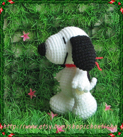 Snoopy 5 inches PDF amigurumi crochet from Chonticha on Etsy