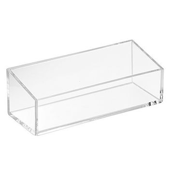 InterDesign Clarity Cosmetic Organizer Tray for Vanity Cabinet to Hold Makeup, Beauty Products - Clear