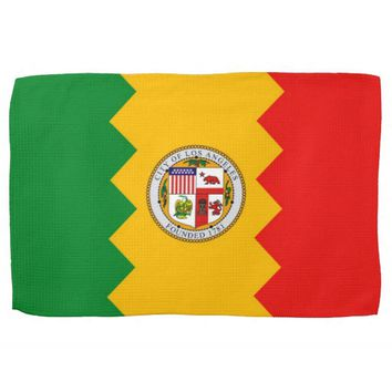 Kitchen towel with Flag of Los Angeles, U.S.A.