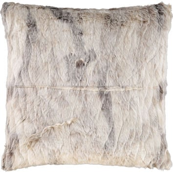 Grey & Cream Faux Fur Cushion 45x45cm - Living Room - Home - TK Maxx