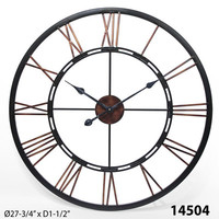 Infinity Instruments Metal Fusion Open Dial Wall Clock