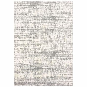 Oriental Weavers Verona Ivory Grey Abstract Distressed Casual Rug