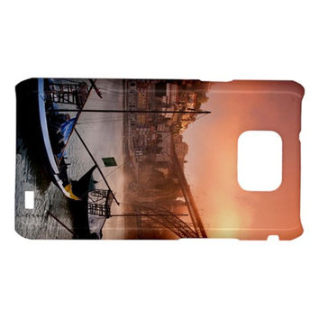 Boat Lake In Sunset Douro River Porto Portugal Samsung Galaxy S II i9100 Hardshell Case
