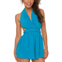 At First Sight Romper - Blue
