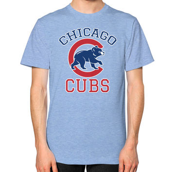 Cubs Baseball Team Chicago Allsex, Chicago cubs world series Unisex T-Shirt (on man)