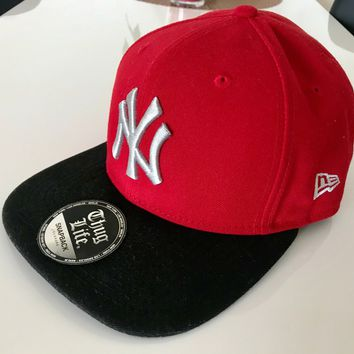 NEW ERA 9FIFTY BASEBALL CAP NFL NEW YORK YANKEES ROT/SCHWARZ NEU !!!!