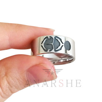 Scarab silver band ring, egyption revival scarab ring, engraved scrab ring, egyption ring, scrab wide ring, wedding band ring christmas gift