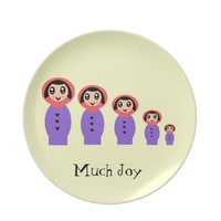 "Much Joy Plate ""Russian Stacking Dolls Matryoshka"" from Zazzle.com"
