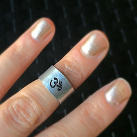 OM Ring / Stackable Ring / Adjustable Ring /  Yoga jewelry