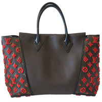 Louis Vuitton W PM Bag in Brown with Red