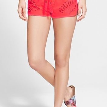 Junior Women's Rip Curl 'Journey On' Laser Cut Shorts