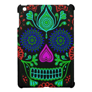 Colorful Sugar Skull Apple iPad Mini Case