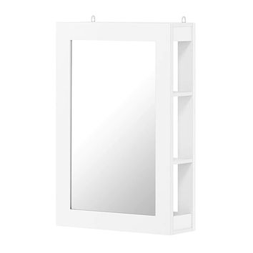 Figdor Wall Mounted Mirror with Shelf, White