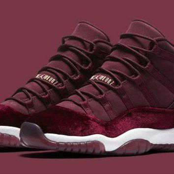 DCCKUN7 Ready Stock' aj11 Air Jordan 11 GS Velvet ¡°Heiress¡±