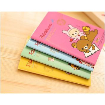 1X Kawaii Cute Rilakkuma Mini Portable Soft Notebook Diary School Office Supply Planner Student Stationery Gift