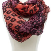 MIXED IKAT ANIMAL PRINT INFINITY SCARF