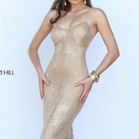 Embellished Slim Gown by Sherri Hill
