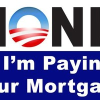 MAGNETIC HONK If I'm Paying Your Mortgage -Bailout bumper sticker decal