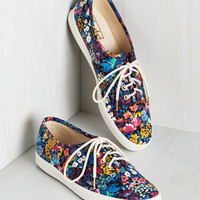 No Grace, No Glory Sneaker in Evening Garden | Mod Retro Vintage Flats | ModCloth.com
